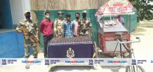 BSF Arrested One smuggler carrying Phensedyl Concealed Ice-cream Trolley At Border