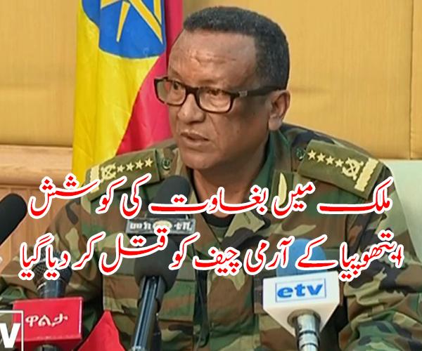 ملک میں بغاوت کی کوشش، ایتھوپیا کے آرمی چیف کو قتل کر دیا گیا