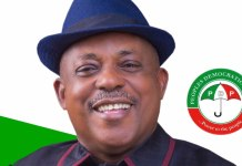 National chairman of PDP Uche Secondus