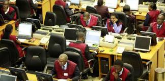 The floor of Nigerian Stock Exchange
