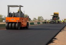 Road construction in Nigeria
