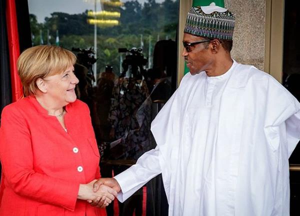 Buhari-meets-Merkel