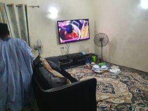 The former emir's living room