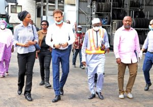L-R: The Managing Director, Nigerian Ports Authority (NPA), Hadiza Bala Usman, Managing Director, PTML Terminal, Ascanio Russo, Port Manager, Tin Can Island Ports, Abubakar Umar and the Executive Director, Marine & Operations, NPA, Onari Brown during the tour of the terminal.