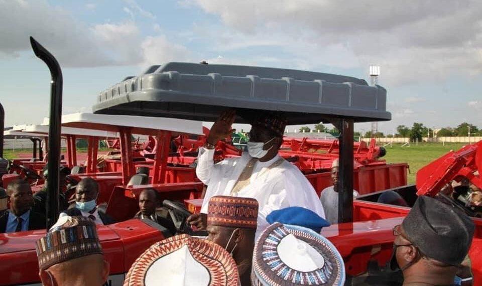 Gov. Buni acquires 103 tractors, 7,500 metric tonnes of fertiliser ...