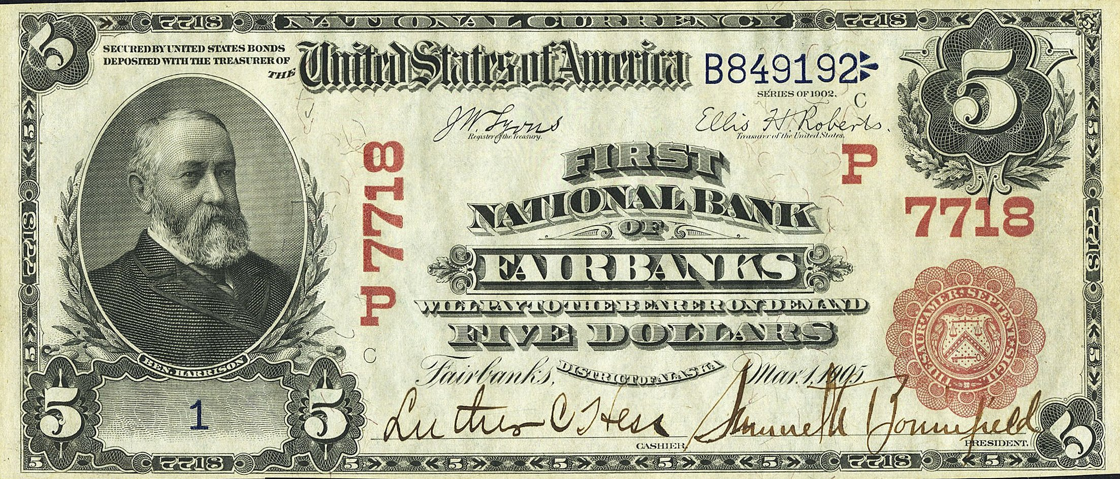 Rare Century Old 5 Bill Issued In Fairbanks Alaska