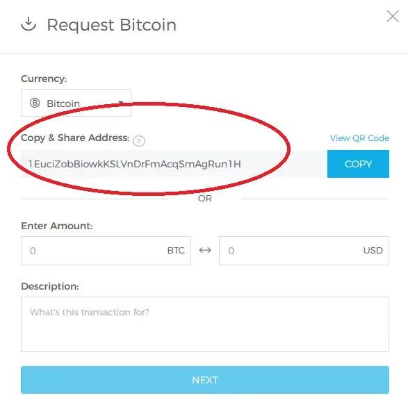 send bitcoin to blockchain