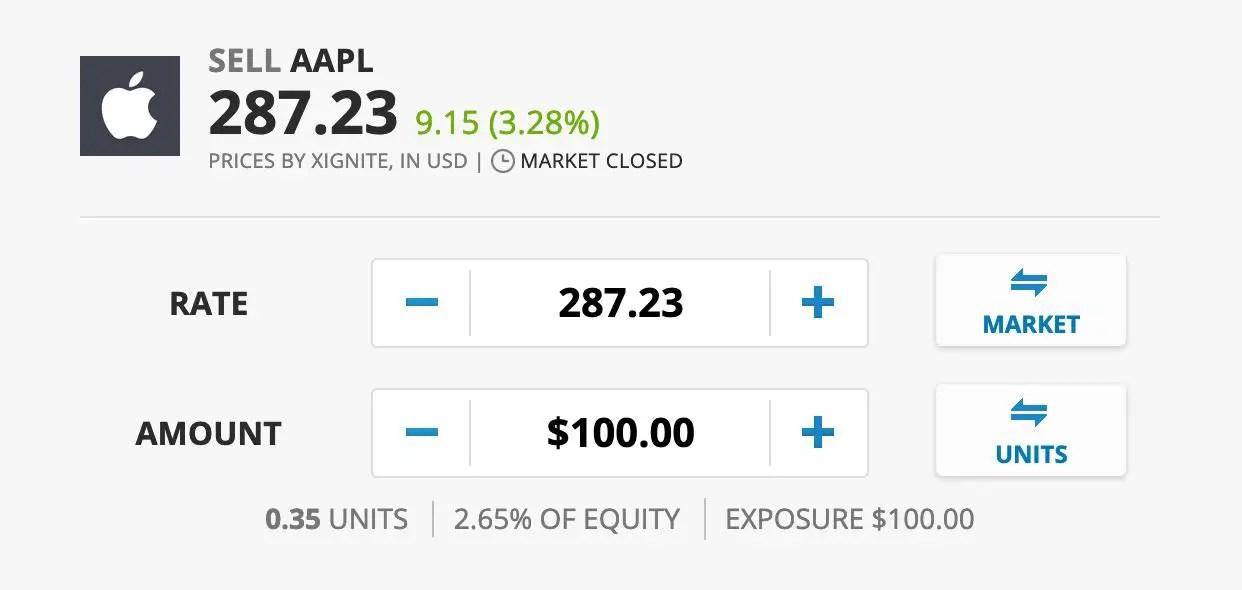 sell stocks short position