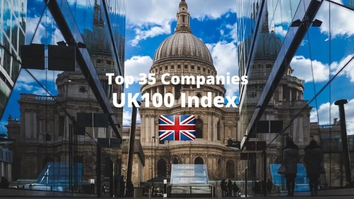 top 35 companies uk100 index