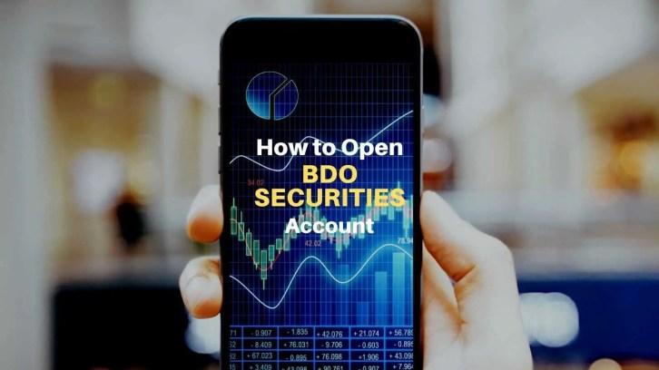 how to open bdo securities account