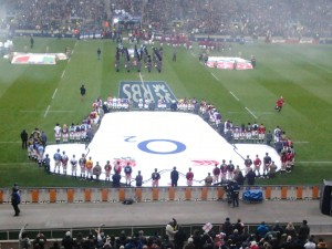 twickenham stadium - national anthems 6 nations