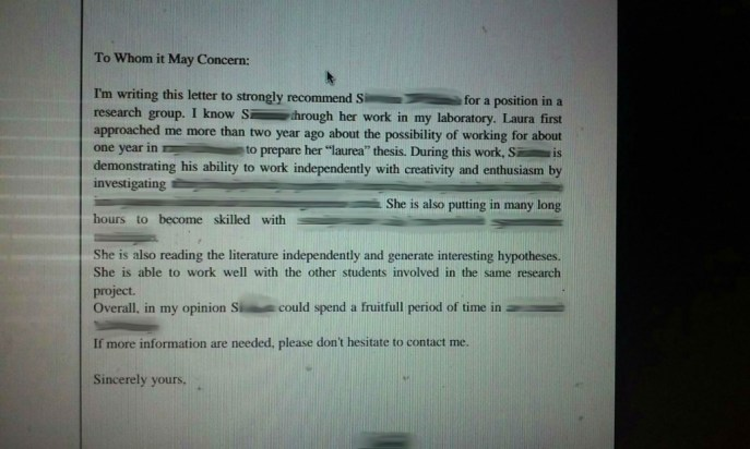 tragicomic recommendation letter horrible english