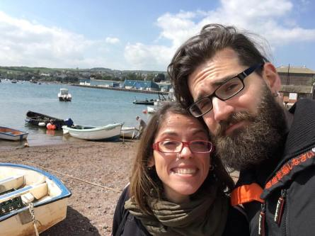 Franz and I in Teignmouth - Break in Devon Exeter