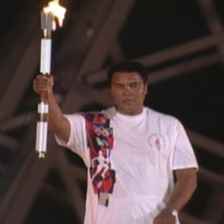 cerimonie di apertura delle Olimpiadi muhammad ali atlanta 1996
