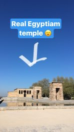 Temple of Debod from my Instagram stories feed