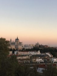 Madrid overview sunset