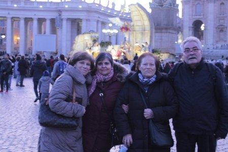 From left to right: mother-in-law, my mother, Franz's grandmother and stepfather enjoying a stroll in Vatican City