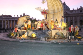 St Peter's square Presepe in Vatican City