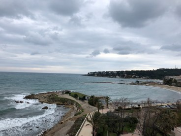 View from the hotel suite where we worked for one week - Antibes Water meetup 22-28.02.2018