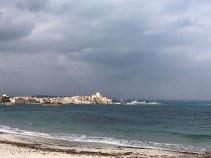 View of the Marina from the waterfront/beach - Antibes Water meetup 22-28.02.2018