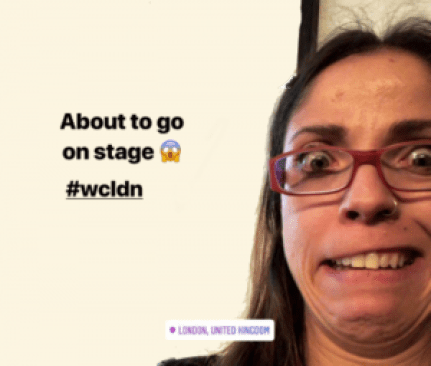 WCLDN WordCamp london 2018t - overcoming my public speaking fear - heartbeat experiment
