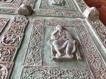 Trani's basilica door detail