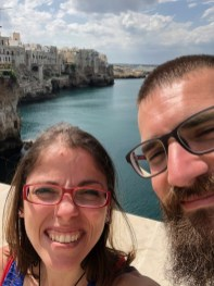 Franz and I in Polignano a Mare