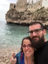 Franz and I in Polignano a Mare