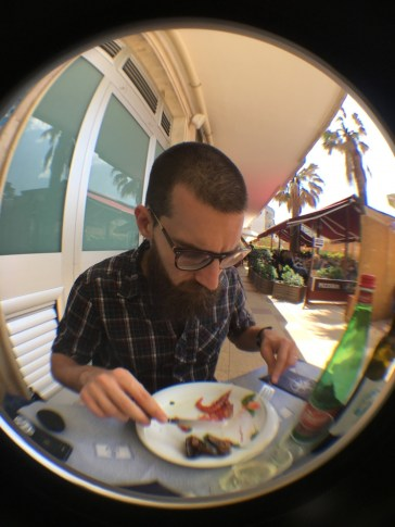 Franz and Raw seafood in Giovinazzo