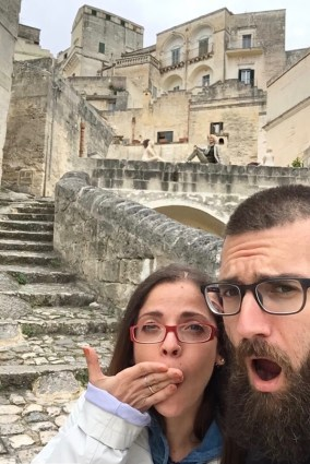Franz and I in Matera