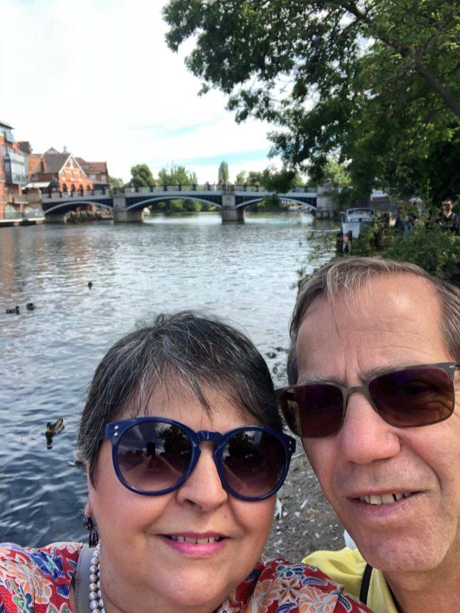 Mum Camera selfie in Windsor riverside