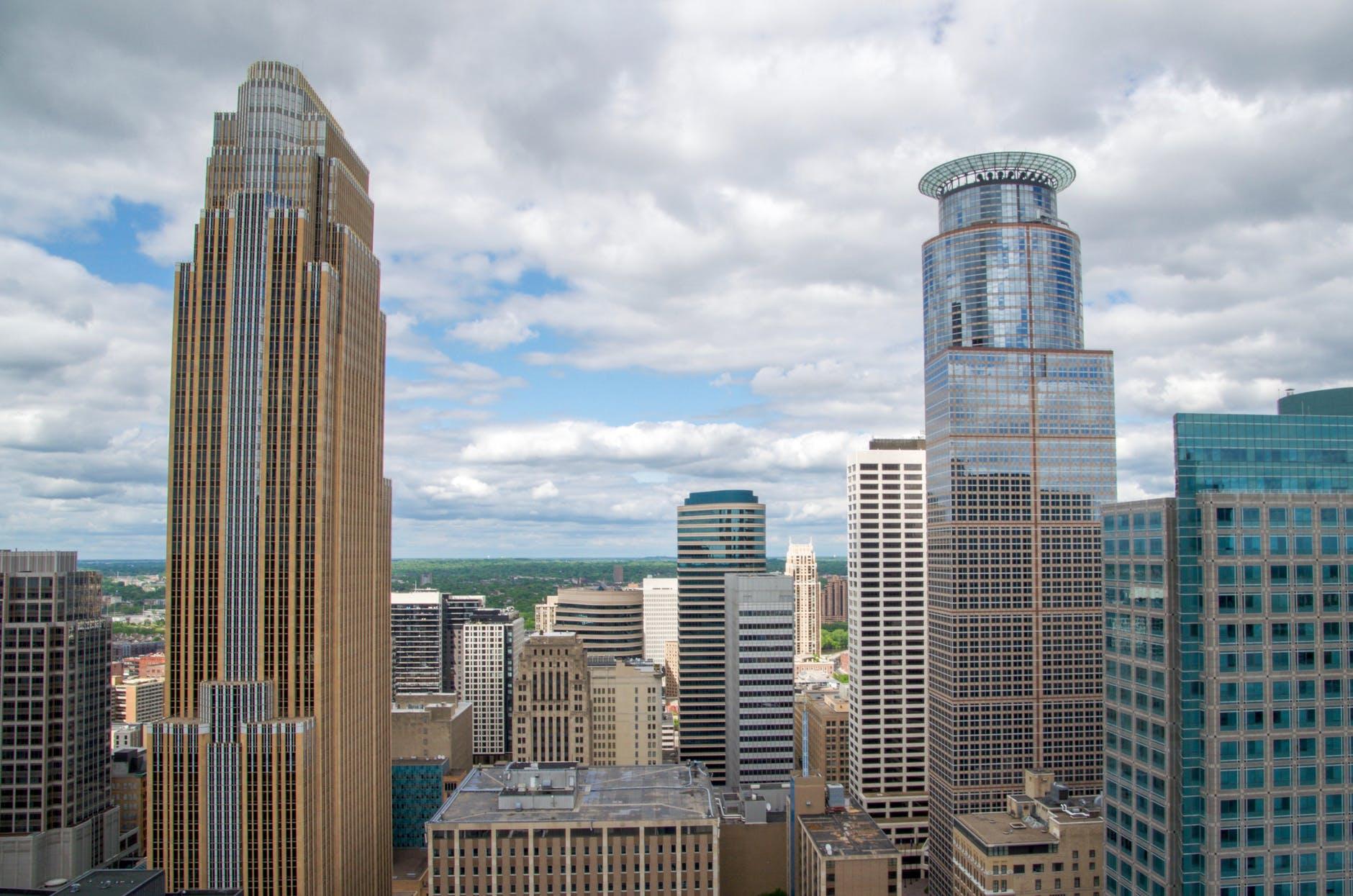 city skyline buildings building
