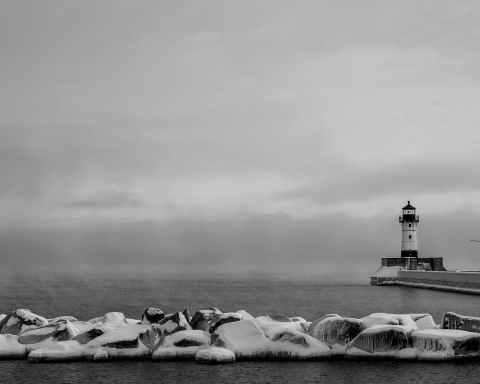 cold snow sea landscape