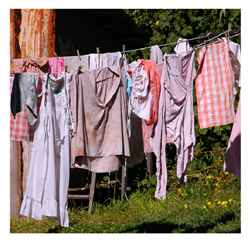 Image result for Dirty laundry on clothes line