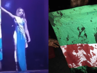 Udeh Chiamaka Steps Out With Blood-Stained Nigeria...