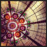 Patterns: A vivid Art Deco-esque design of the ceiling of a Las Vegas casino.