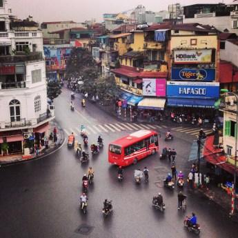 A shot of Hanoi traffic. Original.