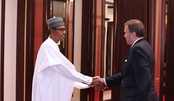 Image result for symington ambassador  2019!!! American Ambassador Releases Emergency Statement On Removing Buhari From Office On Saturday PRESIDENT BUHARI RECEIVES USA AMB1A