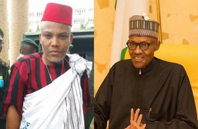 Image result for nnamdi kanu and buhari