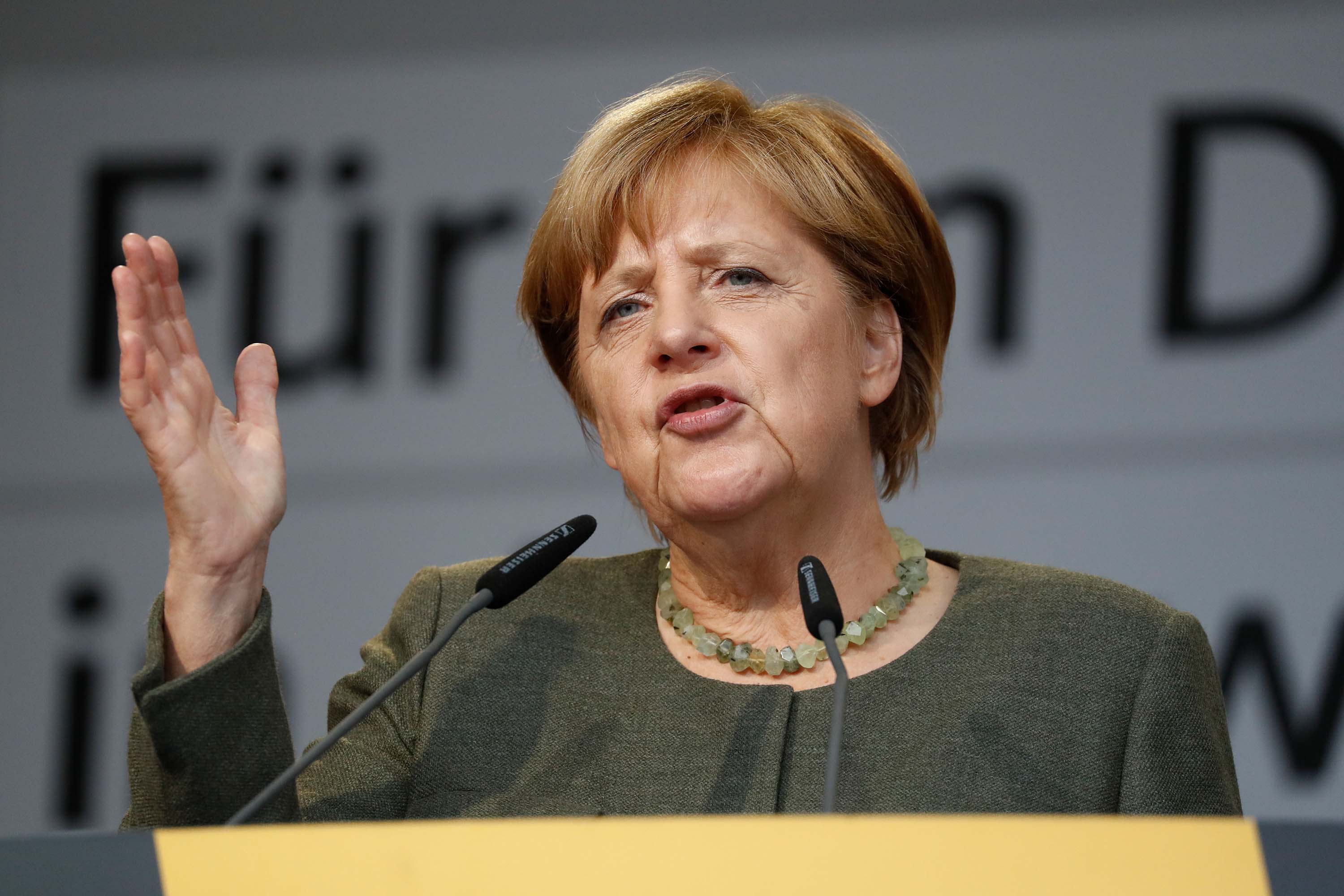 The European Union (eu) Is Facing The Biggest Test Since Its Creation And Should Be Resolutely Defended During The Coronavirus Crisis, German Chancellor Angela Merkel Says. The Pandemic Is A ""