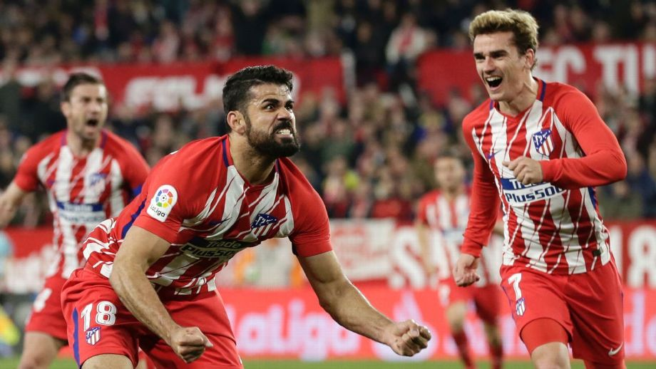 Costa Griezmann 3947 - Atletico denied top spot after Costa squanders penalty