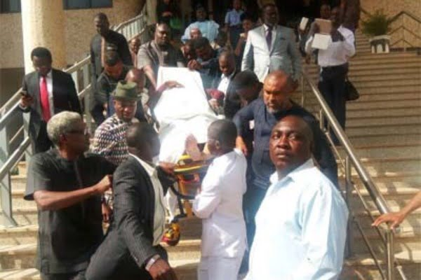 Image result for OLISA METUH COLLAPSE IN COURT