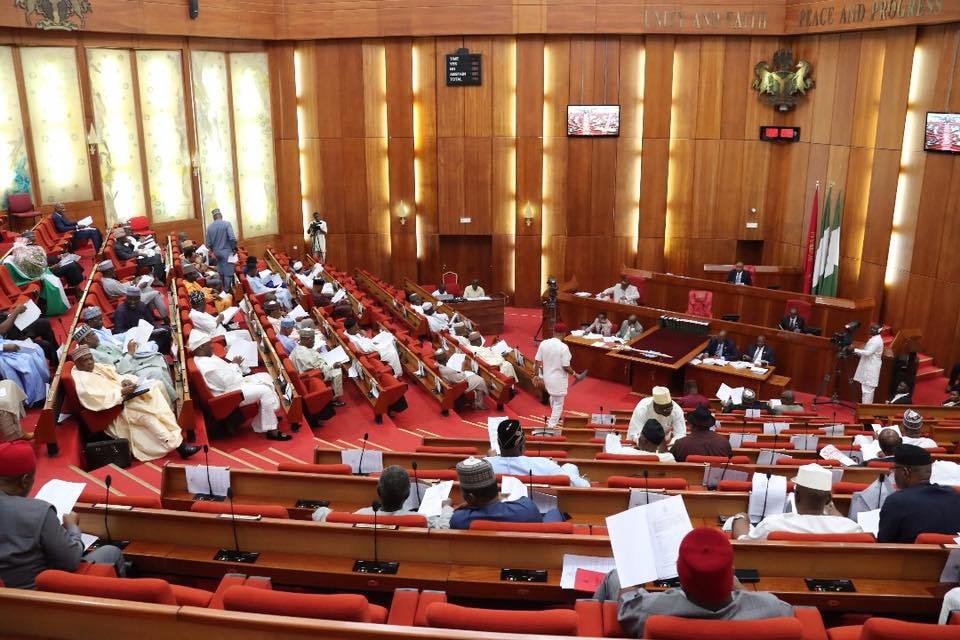 Nigerian Senate - APC Senators stop Senate from debating Buhari's Democracy Day speech