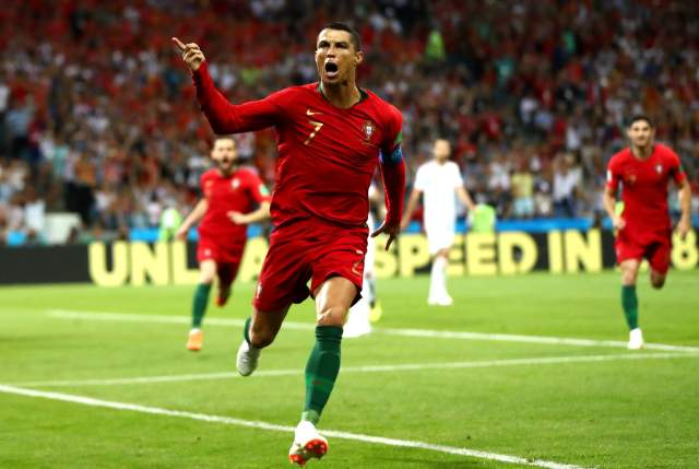 Image result for ronaldo hat trick spain