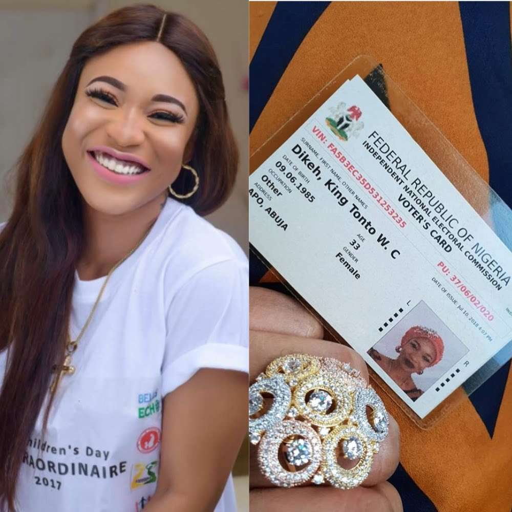 Image result for Tonto Dikeh has now officially changed her name