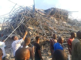 Image result for Seven-storey building collapses in Port Harcourt