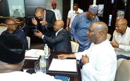 Image result for atiku abubakar dubai meeting