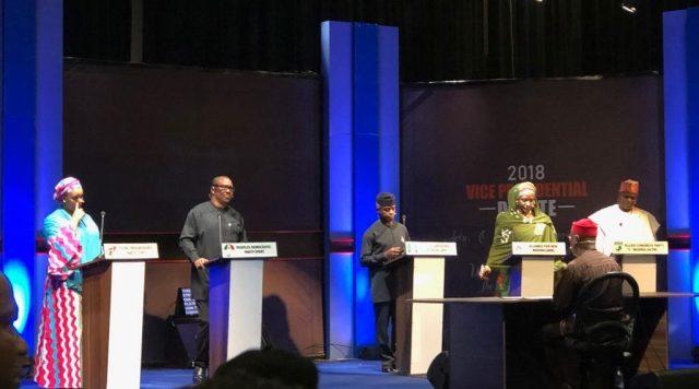 vice president debate 2018 images