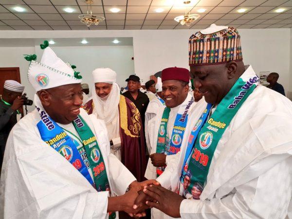 Buhari Greets Retired Col. Sani Bello At 77