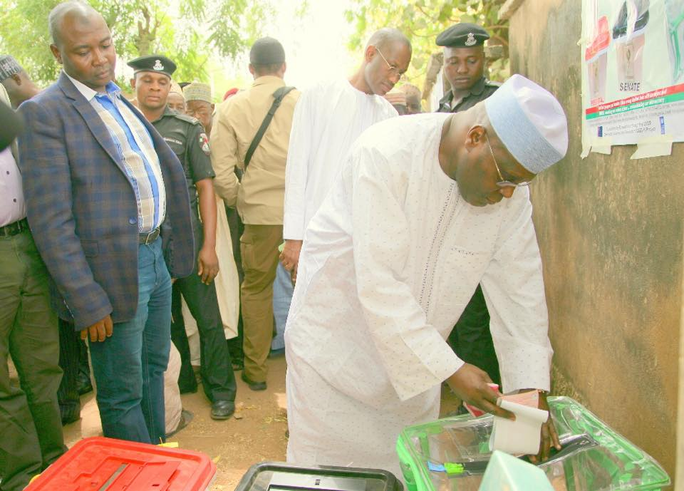 Image result for Atiku has just cast his vote